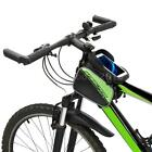 """BaseCamp MTB Bike Front Top Tube Double Bag Pouch for 6.0"""" Inch Cellphone CZ5A"""