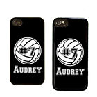 PERSONALIZED RUBBER CASE FOR iPHONE 4S 5 5S 5C VOLLEYBALL BLACK