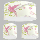 Handmade Lampshade with Laura Ashley Summer Palace Cerise Wallpaper Pink Shade