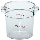 Cambro RFSCW1135 Round Storage Container Clear 1 Qt.