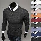 Mens See Through Slim Fit Round Neck Crewneck Knit Sweater Jumper Top E301-S/M