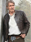 Star Wars Harrison Ford Han Solo the Force Awakens Distressed Leather Jacket $159.99 AUD