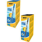 BIC Cristal V2 Rollerball Gell Pens Black Blue Super Smooth Box of 20 0.8mm