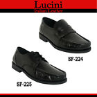 Lucini Mens Real Soft Leather Comfort Formal Evening Office Wear Shoes