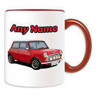Personalised Gift Red Mini Cooper Mug Money Box Cup Driver Car BMW Message Name