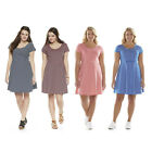 NWT Juniors' Plus Size SO Cap-Sleeve Stripes Skater Dress in 4 Colors Size 1X/2X