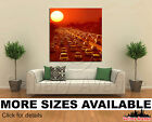 Wall Art Canvas Picture Print - Traffic in Los Angeles at sunset 1.1