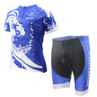 Women's Short Cycling Clothing Suit Bicycle Cycling Jersey Short Set Snow Queen