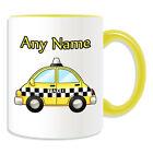 Personalised Gift Taxi Mug Money Box Driver Private Public Hire Uber Cab Tea Cup