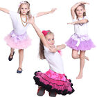 Kids Girls Dancewear Cute Chiffon Tutu Full Pettiskirt Princess Party Skirt