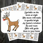 CHRISTMAS REINDEER FOOD POEM STICKERS LABELS x 63  #aah
