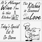 Kitchen Tile Transfer Pack of 4 Fun Quotes Ceramic Tile Stickers Great Fun