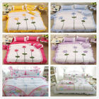 Embroidery Floral Single Queen King Bed Linen Quilt/Doona Cover Set New Cotton