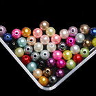 6mm 8mm 10mm Resin Round Imitation Pearl Beads With Hole For Jewelry Making DIY