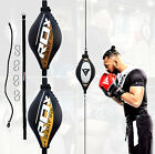 Внешний вид - RDX Leather Double End Dodge Speed Ball Boxing Floor To Ceiling Punching Bag MMA