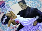 Lowbrow THE WEDDING Art Gallery Canvas Giclee by MIKE BELL Frankenstein & Bride