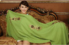 Free Shipping Top Grade Women's 100% Wool With Handmade Flower Shawl Scarf Wrap