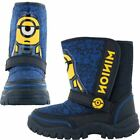 Minions Stewart Boys Blue Winter Snowboot Infants Kids Size 7-1