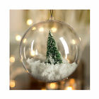 5pcs Wedding Home Decoration Ornament Clear Plastic Bauble Candy Box +Keychain