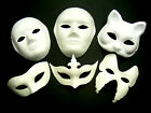 White Mask Plain Face Fancy Dress Decorate Party Play Masquerade Ball Opera Mask