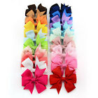 "3.5"" Handmade Girls Baby Hair Clips Accessories Ribbon Bow Alligator Grosgrain"
