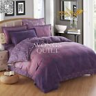 Purple Floral Quilt/Doona/Duvet Cover Set New Cotton King Queen Double Sing Size
