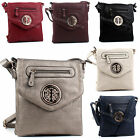 New Womens Ladies Designer Multi Zip Crossbody Side Shoulder Bag