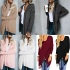 Women Long Sleeve Knitted Cardigan Loose Sweater Outwear Jacket Tassels Coat Top