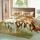 Horses Quilt/Duvet/Doona Covers Set King Single Double Queen Size Bed Linen
