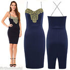 Womens Bodycon Midi Dress Michelle Ladies Lace Crochet Strap Top Party Dresses
