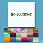 No Soliciting Business - Decal Sticker - Multiple Patterns & Sizes - ebn482