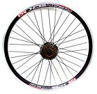 "26"" QR MTB REAR DISC BRAKE WHEEL WITH 6 SPEED SHIMANO FW. DOUBLE WALL V  RIM,"