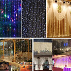 3Mx2M 224 LED Outdoor christmas Xmas String Fairy Wedding Curtain Light 110V