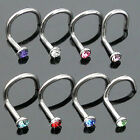 Great Jewellry Gem Mix Colors Rhinestone Nose Studs Screw Ring Bone Bar Piercing