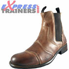 Base London Mens Victory Premium Leather Designer Boots Brown AUTHENTIC