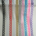 1M Cut Out Lace Tape Self Adhesive Sticker Scrapbooking Wedding Decor Glitter