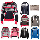 Women Aztec Hoodie Ladies Pattern  Hooded Fleece Zip Long Sleeve Hoody