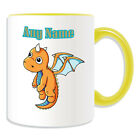 Personalised Gift Flying Baby Dragon Mug Money Box Cup Fairy Tale Name Message