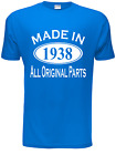 80th Birthday Made in 1936 Mens Gift Unisex T-Shirt  Size S-XXL