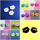 20 Cute Cat Pet Novelty small Kid 2 hole Sewing buttons 14mm Craft