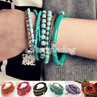 1 Set New Fashion Bracelet Gold Plated Metal Stone Rhinestone Bangle
