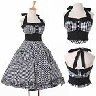 PLUS SIZE Women Vintage Retro Swing 50s 60 Housewife Pinup Prom Dress