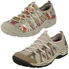 Ladies Rieker L0563 Beige Leather & Synthetic Casual Slip On Shoes