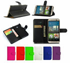 Leather Wallet Book Flip Case Cover Pouch For HTC Desire One Phones