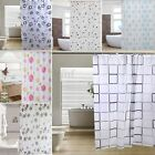 Luxury Modern Bathroom Shower Curtains Extra Long with Hooks 180 x 180cm