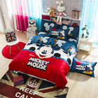 Cartoon Children Disney Mickey Mouse Printed Bed Quilt Cover 4PCS Bedding Set  image