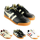 MENS GOLA HARRIER PU LEATHER THICK LACE LOW TOP SUEDE TIP TRAINERS UK SIZES 7-12