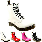 Womens Dr Martens 1460 W 8 Eyelet Patent Lamper Army Combat Lace Up Boot UK 3-8