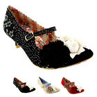 Womens Irregular Choice Daisy Dayz Mary Jane Court Shoe Kitten Heels UK 3.5-8.5