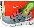 DS Wmns Nike Free Run 2 Stealth Solar Red 443816-016 US 6~7 Running Shoes 1